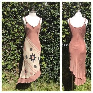 Gorgeous 100% Silk Slip Dress from India M